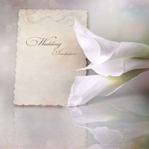 Wedding Invites Should You Send One To Someone Who Can T Attend Lily Wedding Invitations Calla Lily Wedding Invitations Wedding Invitations Examples