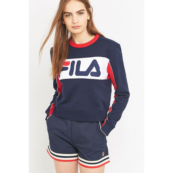UO Exclusive Fila Ana Logo Sweatshirt (£55) ❤ liked on Polyvore featuring  tops