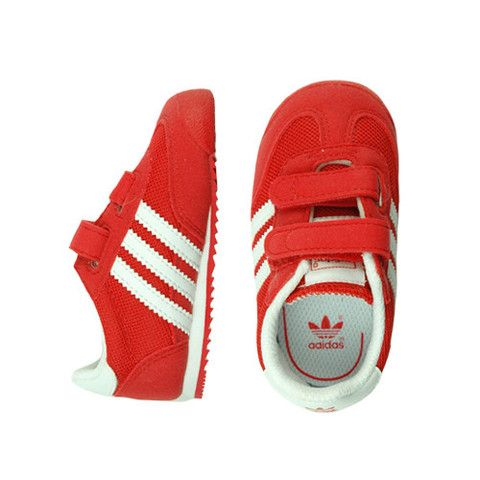 Adidas Dragon Red - mini mioche - organic infant clothing and kids clothes  - made in