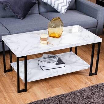 Slate Faux Concrete Coffee Table Coffee Table Iron Coffee Table Elegant Coffee Table