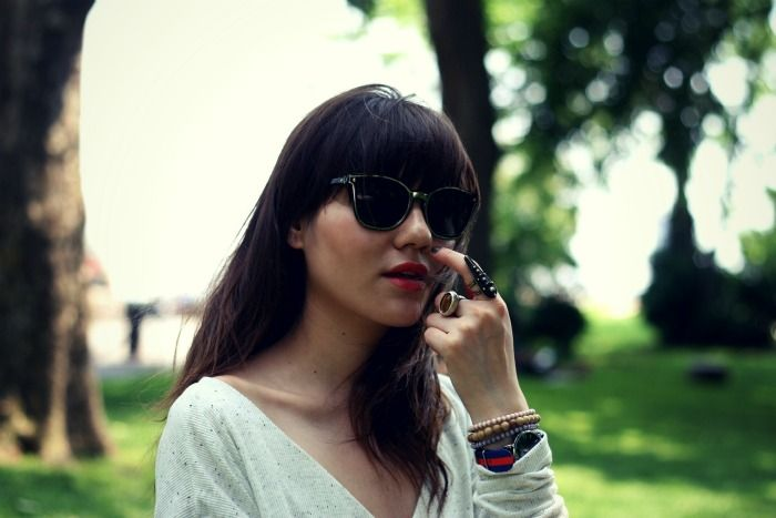 Natalie from Natalie Off Duty wearing Rebecca Minkoff sunglasses