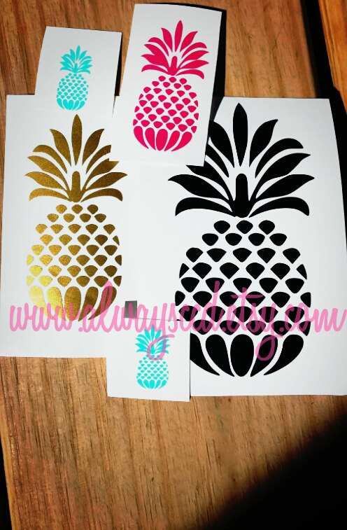DIY Pineapple Vinyl Decal Sticker For Laptop Cars By ALwAyScCd - How to make vinyl decals for cars
