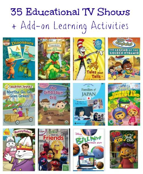 Kids TV shows that encourage them to think & learn along with add-on activities that extend the learning!