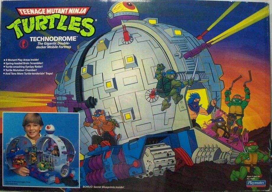 The Evil Krang's Technodrome in the classic 90's TMNT
