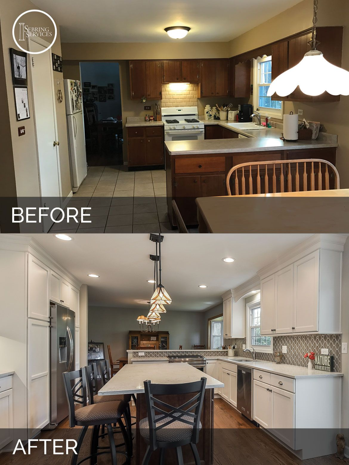 Before And After Small Kitchen: Scott & Ann's Kitchen Before & After Pictures