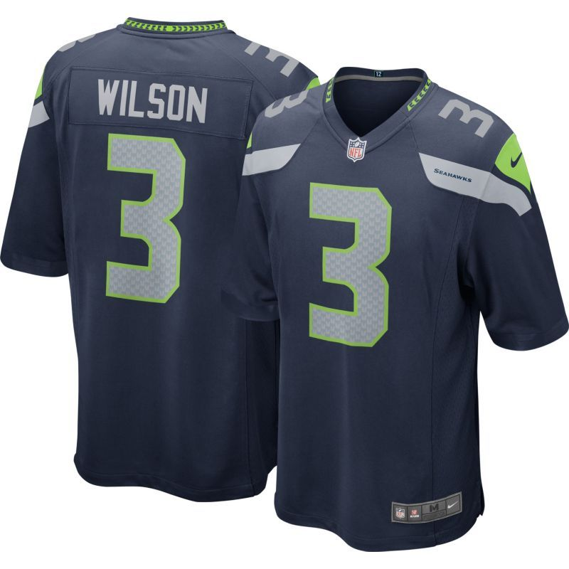 fa7cc5b4669 Nike Youth Home Game Jersey Seattle Seahawks Russell Wilson  3 ...