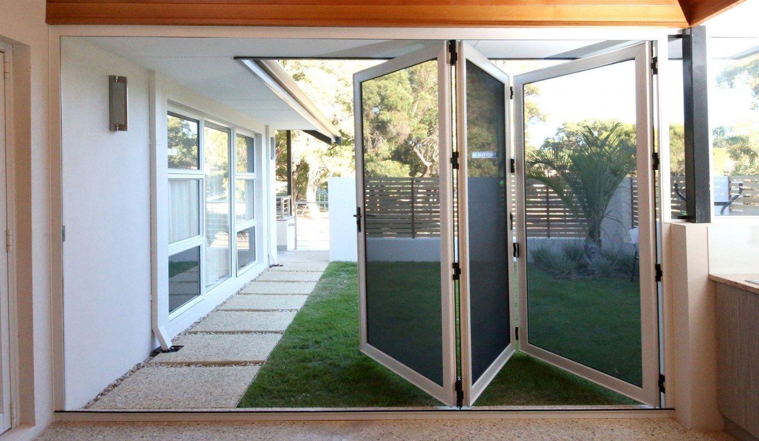 Security Screens for Bifold Doors Perth - Crimsafe | Patio screen door,  Folding patio doors, Double patio doors