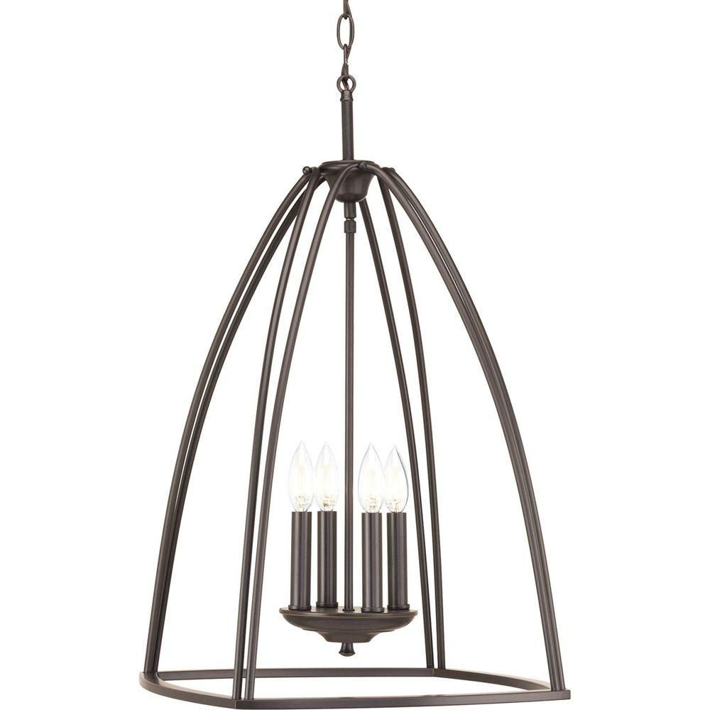 Progress lighting tally collection light brushed nickel chandelier