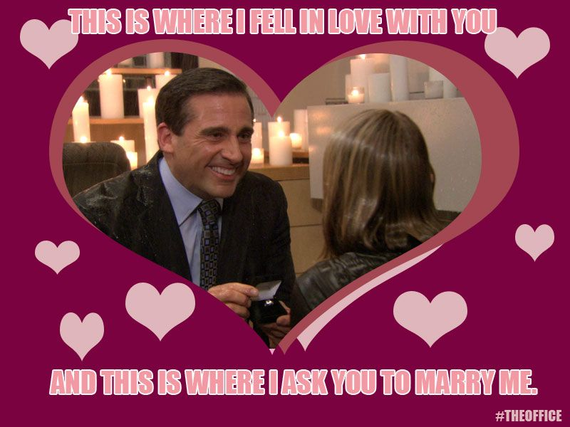Jim and Pam Halpert Valentines Day TheOffice – Tv Valentines Day Cards