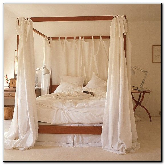 Exceptional Four Poster Bed Canopy Ideas   Beds : Home Furniture Design .