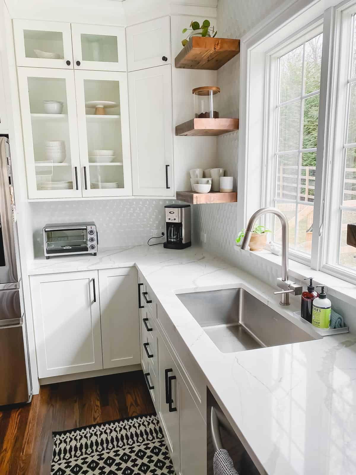 Photo of White Kitchen Remodel – From Dark Cherry to Bright White!