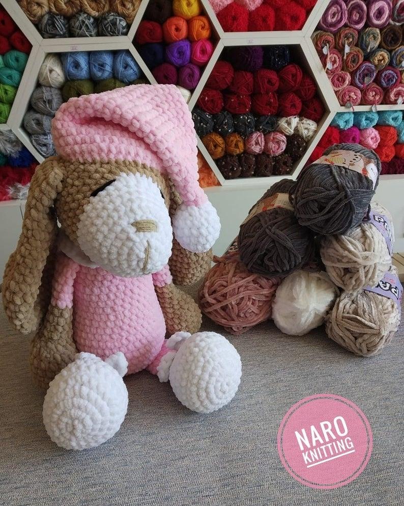 Crochet Dog Toy, Micropolyester Toy, Amigurumi, Ba