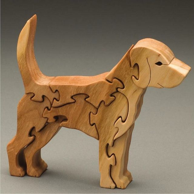 Puzzle 3d Anjing Kayu Pinus Wood Puzzle Wooden Puzzle Dog
