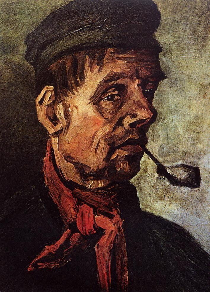 Tête d'un paysan à la pipe 1884