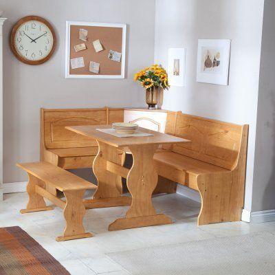 Linon Chelsea Breakfast Corner Nook Dining Table Sets At Hayneedle