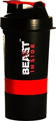 Protein Shaker Bottle With Compartment Bpa Free Stackable 3in1 Storage 16oz 500ml Limited Cup For Whey