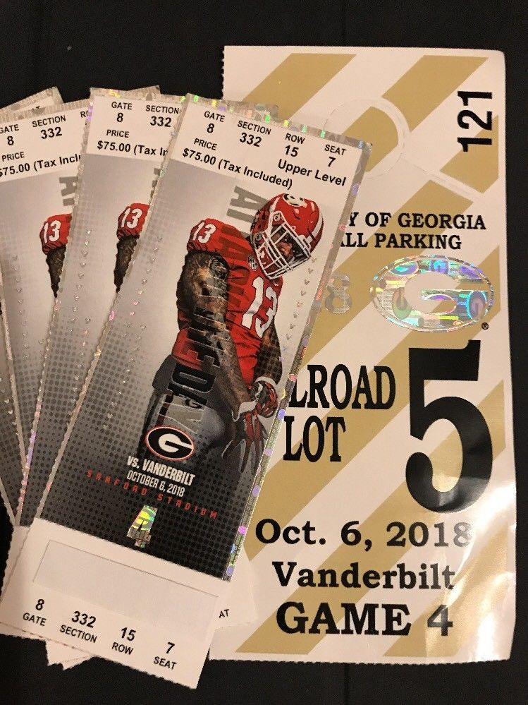 4 Georgia Bulldogs Vs Vanderbilt Football Tickets Uga Parking