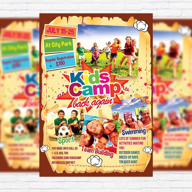 Kids Summer Camp  Premium Business Flyer Psd Template Http