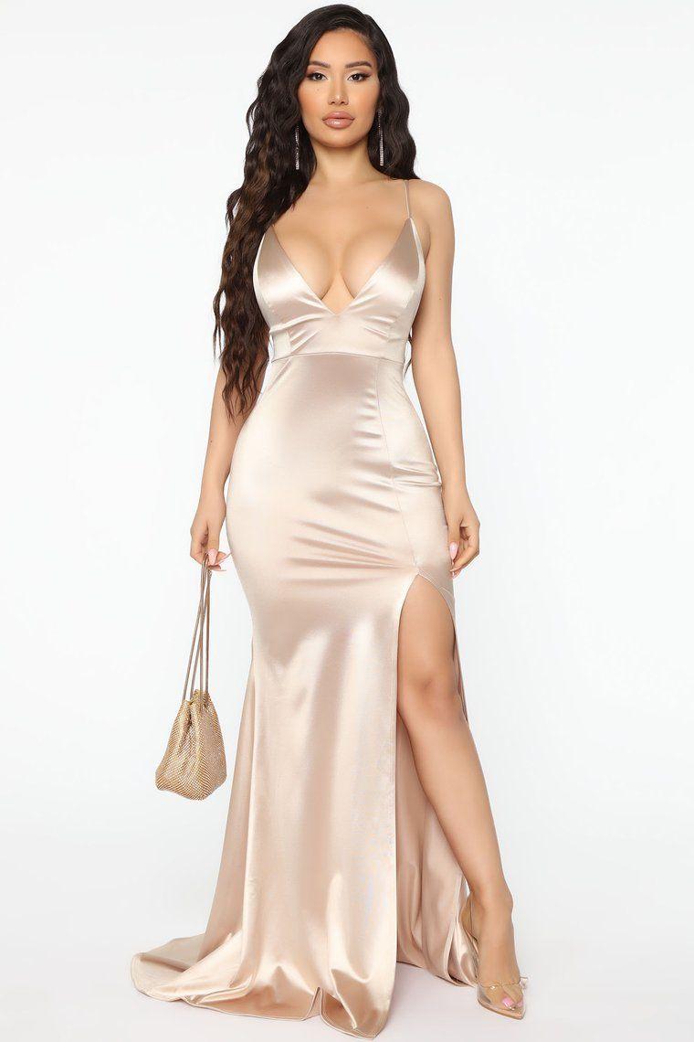 Look Behind Me Maxi Dress Taupe in 2020 Fashion nova