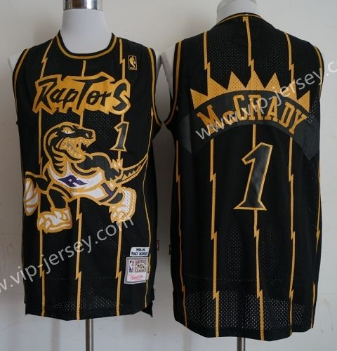 70bbc8eb08c5 NBA Toronto Raptors Black  1 (McGrady) Jersey