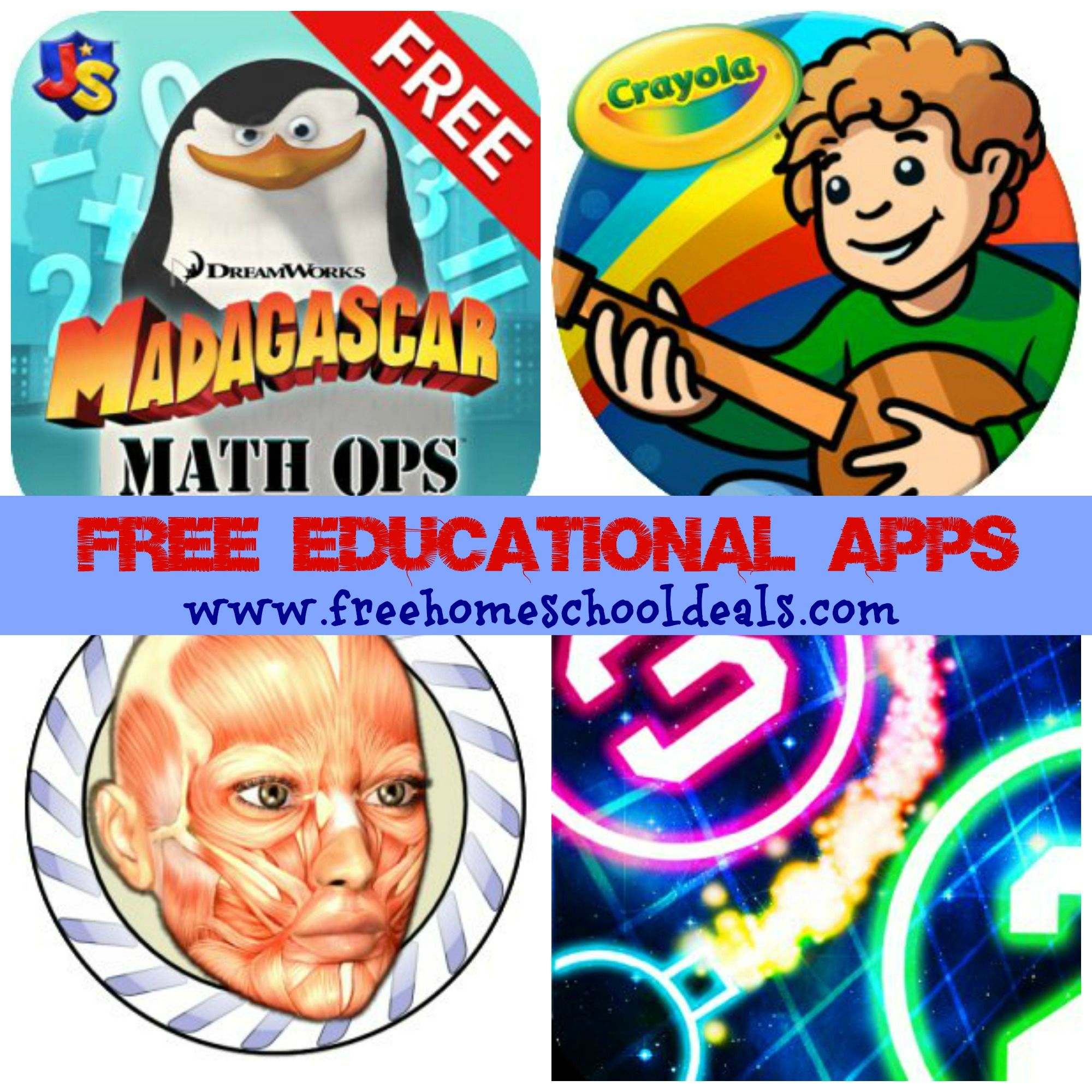 FREE Educational Apps for Kids: Speed Anatomy, Madagascar Math Ops ...