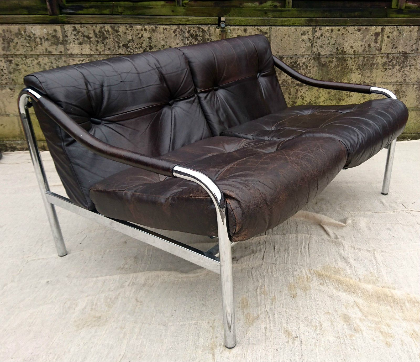 VINTAGE PIEFF BETA THREE PIECE SUITE SOFA TWO LOUNGE CHAIRS