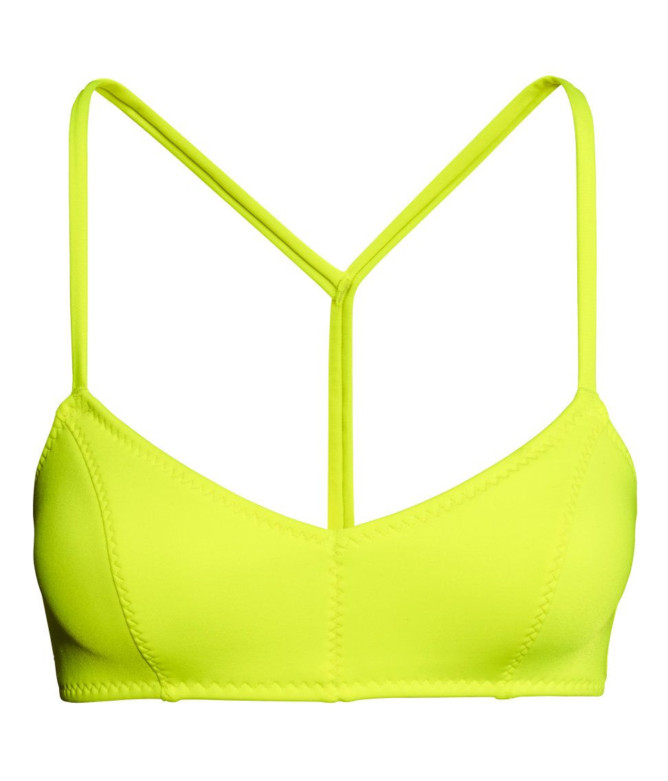 Draw everyone's eyes on the beach in this bold neon yellow ...