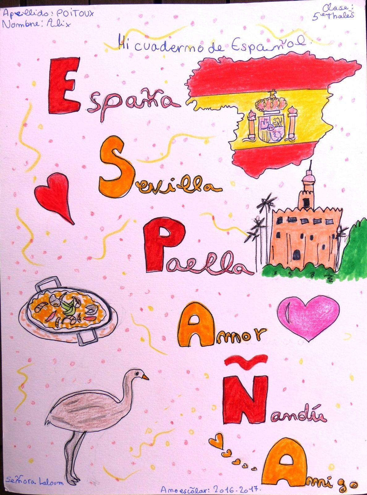 Portadas Del Cuaderno De Español Pages De Garde Cahiers