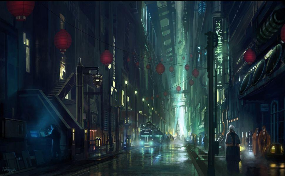 Blade Runner Concept Art Hd Wallpaper Ciudad Cyberpunk Fondos De Pantalla Paisajes Fondo De Pantalla De La Ciudad