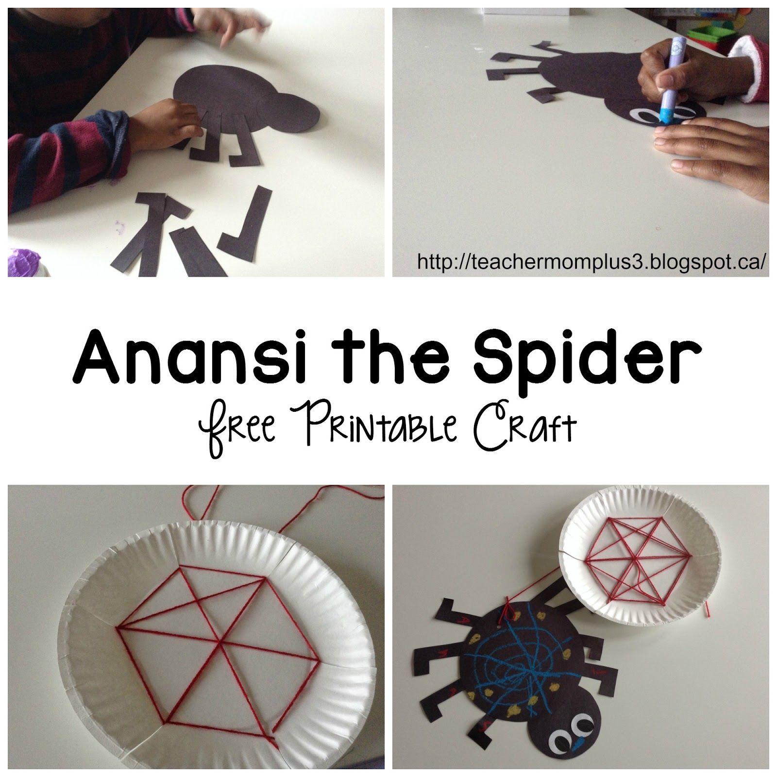 Teachermomplus3 Anansi The Spider Craft