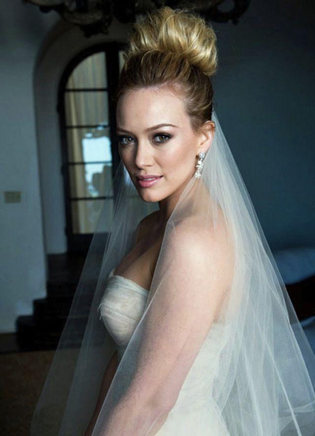 Celebrity Wedding Hillary Duff Diy Wedding Hair Hilary Duff Wedding Dress Wedding Hairstyles