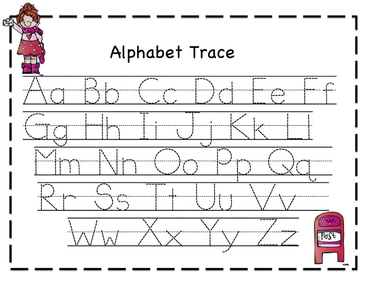 tracing letters for girl activities alphabet tracing worksheets tracing letters abc tracing. Black Bedroom Furniture Sets. Home Design Ideas