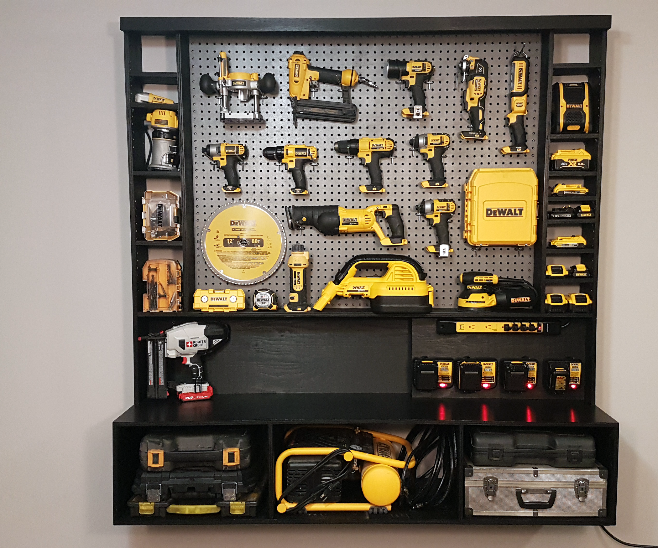 Diy Power Tool Storage W Charging Station Build