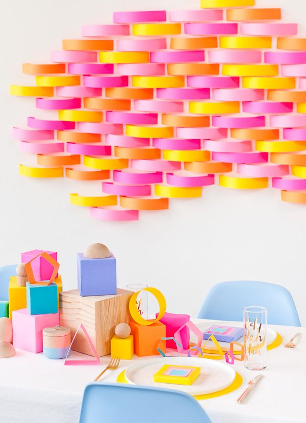 Add a pop of color to your next party with these budget-friendly DIY party projects.