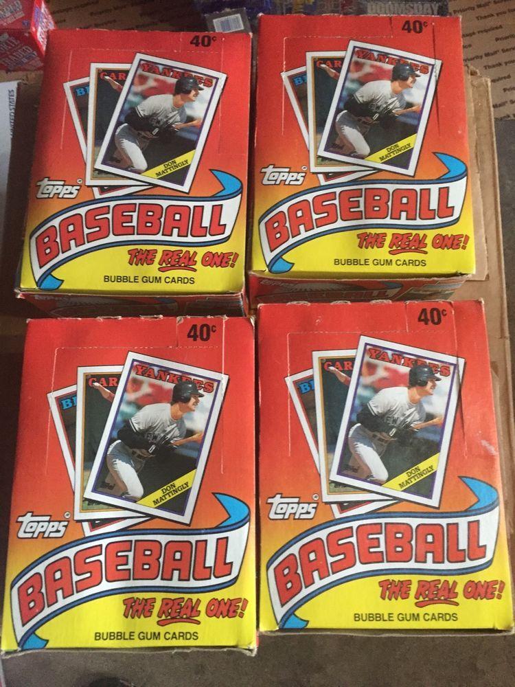 1988 topps baseball cards 36 wax packs unopened packs