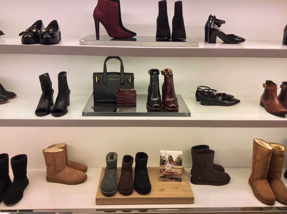 Boots And Ugg Display In Kurt Geiger39s Manchester Boutique