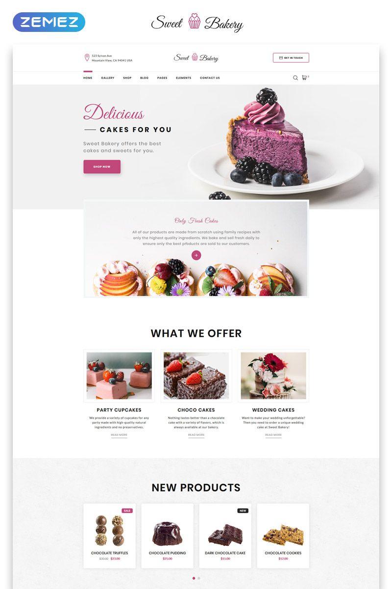 Cake Shop Responsive Website Template For Confectionery Business Templatemonster Adaptivnyj Veb Dizajn Portfolio Veb Dizajn Dizajn Sajta