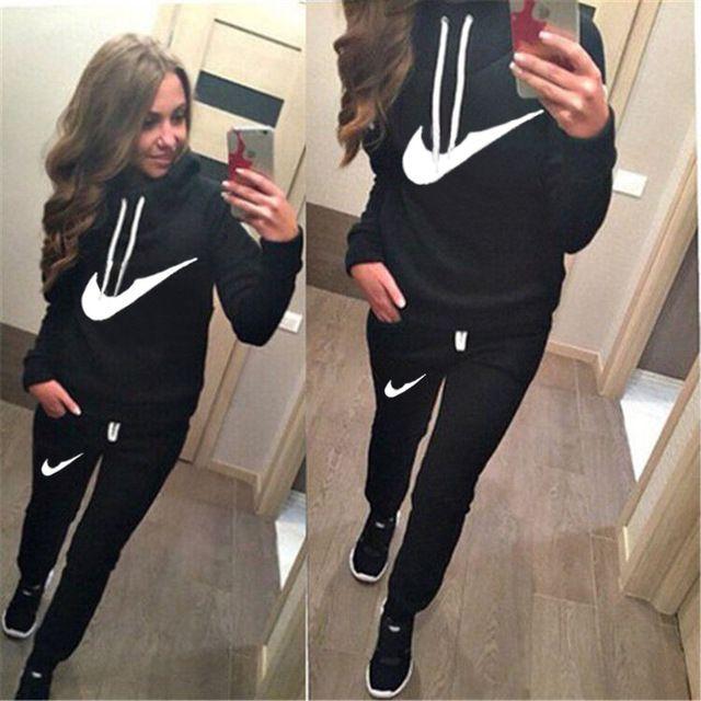 2016 Hot sale da moda treino Set mulheres esporte terno camisola Hoodies + calças de Jogging Moletom Feminino Sportswear um conjunto