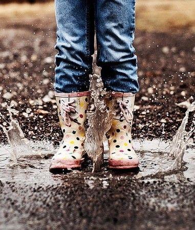 having fun in the rain
