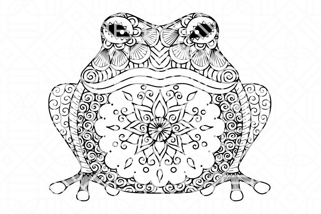 Frog Zentangle Svg Files For Silhouette Files For Cricut Svg