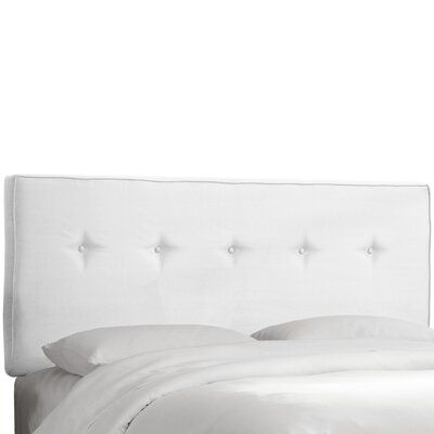 Charlton Home Tiffin Upholstered Panel Headboard Size: Queen, Upholstery: White