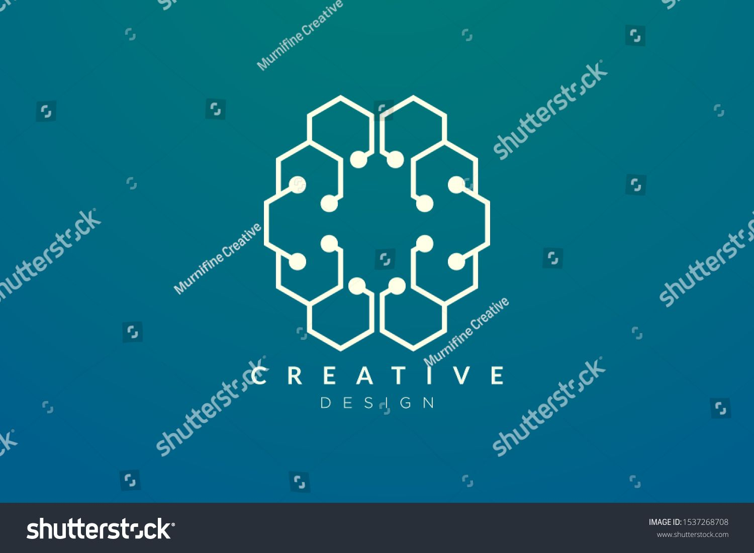 Design Abstract Brain Shape Logo With Technology Style Simple And Modern Vector Design For Business Brand In The Field Of D Brain Shape Abstract Vector Design