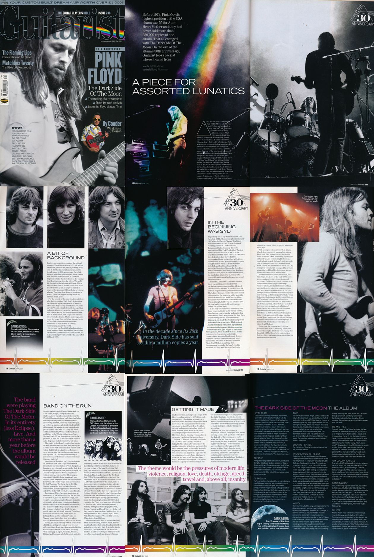 Pink Floyd in Guitarist magazine may 2003