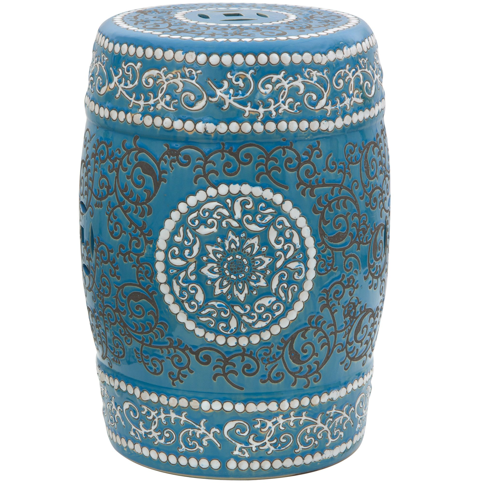 Oriental Furniture Medallion Porcelain Garden Stool | Wayfair #home #decor #lovely #inspiration #oriental #furniture