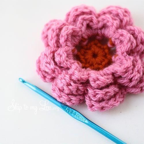 12 Crochet Flower Patterns   crochet projects   Pinterest ...