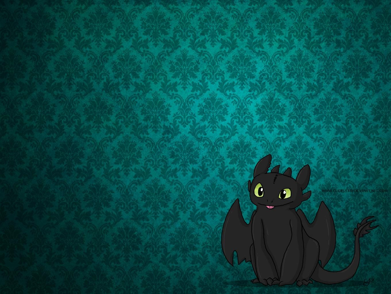 Cute Toothless Night Fury Dragon A Wallpaper