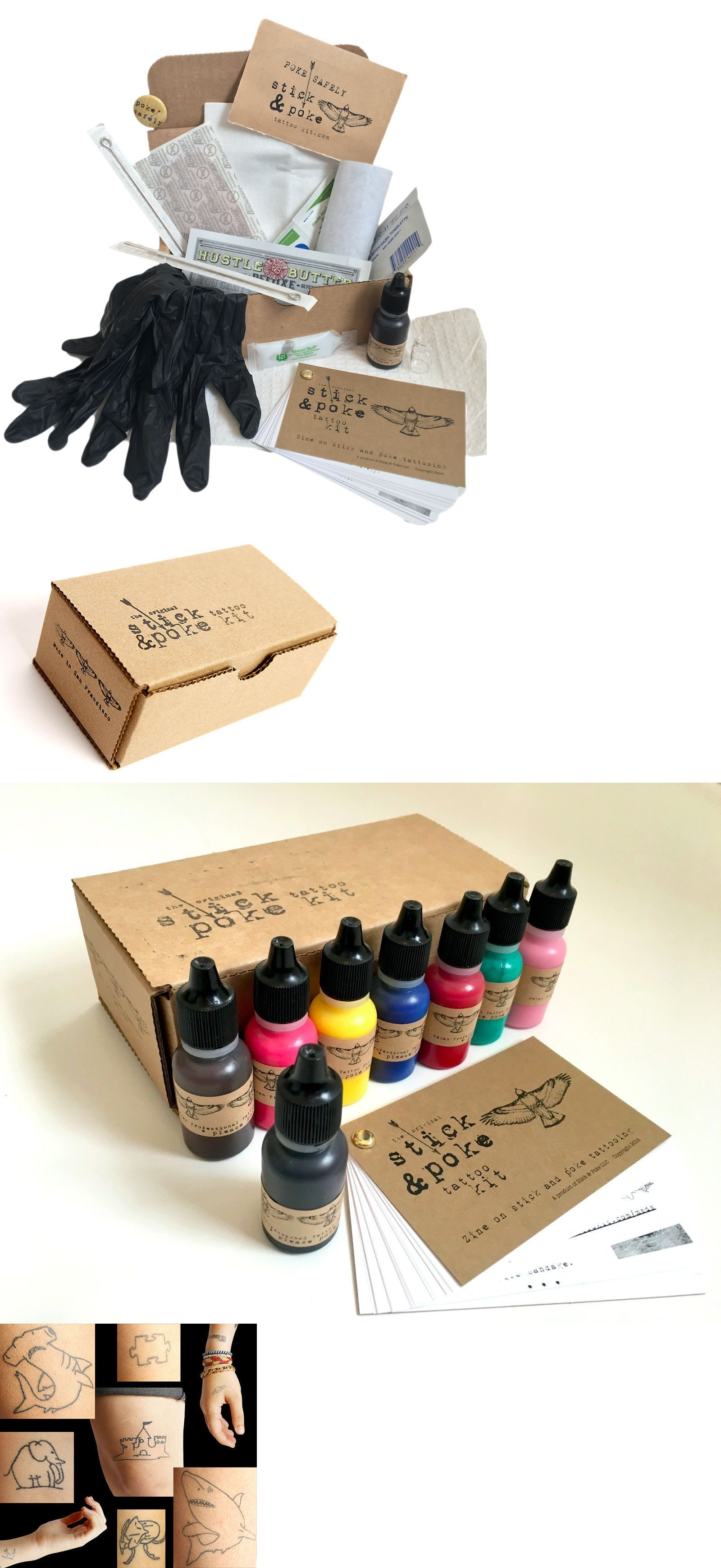Tattoo Supplies Stick And Poke Single Tattoo Kit > BUY