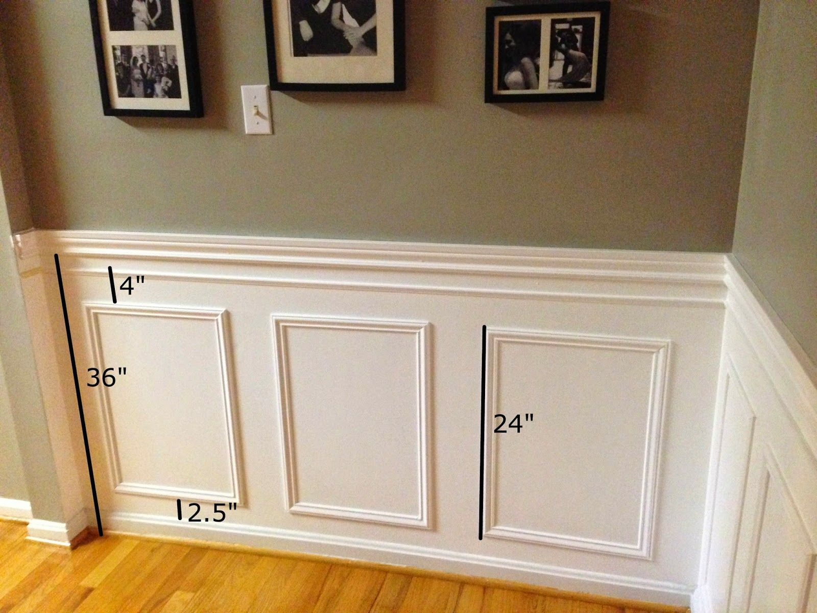 Picture Frame Moulding On Walls little brick home: how to install picture frame moulding: part one