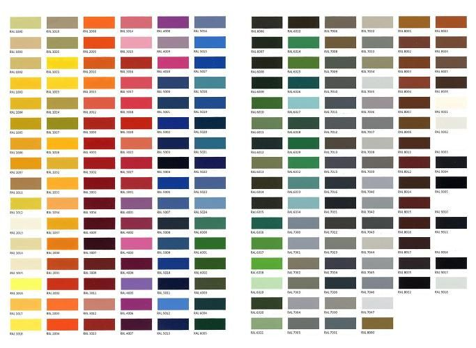 Ral Colour Chart  Colors    Ral Color Chart Ral