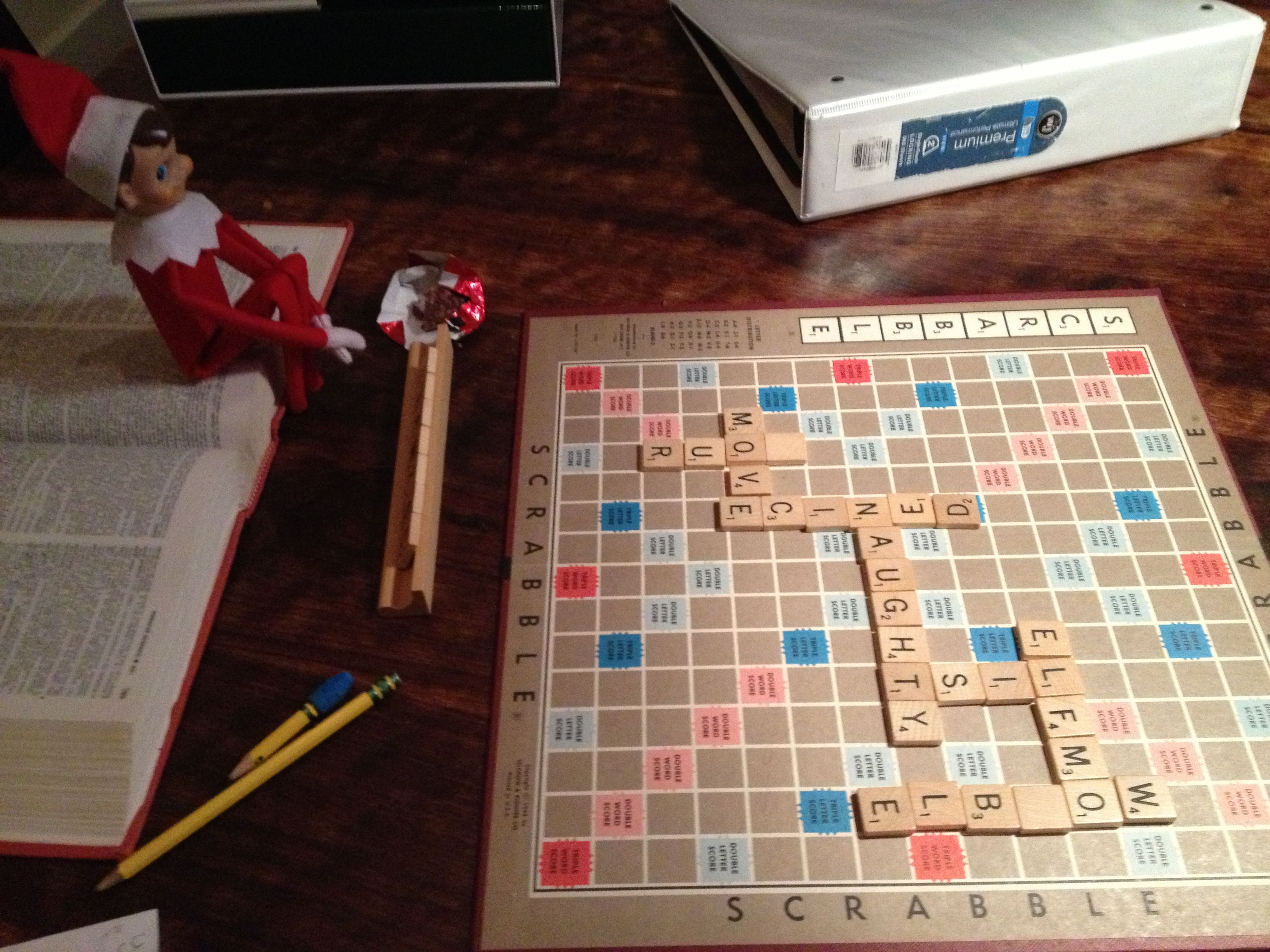 ELFMO DAY ONE (12.18.12)  SCRABBLE MESSAGING